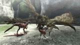 【ゲーム画面】大型モンスターに挑む肉食竜(C)CAPCOM CO., LTD. 2009 ALL RIGHTS RESERVED.