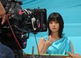 真木よう子が出演する『キシリトールエクシー』CM撮影のもよう