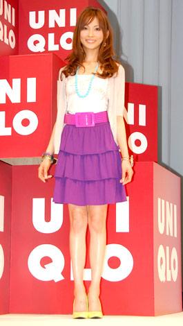 ユニクロの新作『サマースカート』の発表会に出席した押切もえ (C)ORICON DD inc.