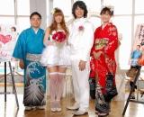 イベントの模様(左から牧原俊幸アナ、スザンヌ、庄司智春、中村仁美アナ)(C)ORICON DD inc.