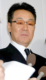故・三木たかしさんの告別式に参列した五木ひろし (C)ORICON DD inc.