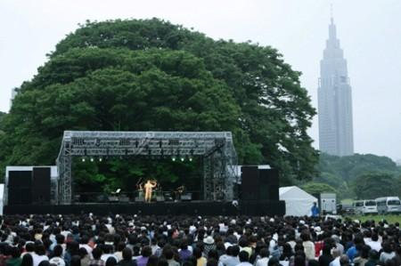 明治神宮創建以来初のポップスコンサートの模様
