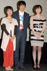 (左から)横浜聡子監督、松山ケンイチ、麻生久美子 (C)ORICON DD inc.