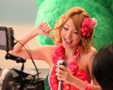 木下優樹菜が出演している『果汁グミ』新CM撮影の様子