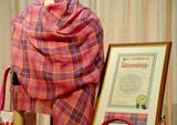 スコットランド・タータン登記所の認可・登録を受けたキティのオリジナルタータン柄 (C)ORICON DD inc.