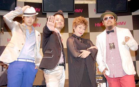 ミニアルバム『VOYAGE』の発売記念イベントを行った(左から)CLIFF EDGEのDJ GEORGIA、JUN、AJこと秋元順子、SHIN (C)ORICON DD inc.