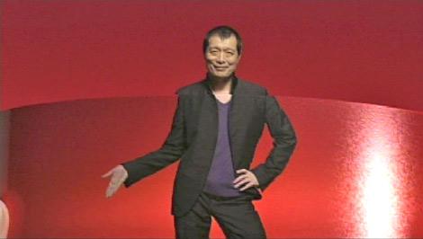 新CMで首から下がパラパラ漫画になっている矢沢永吉