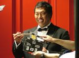 清原和博氏が出演している『麺の達人』新CMのメイキング風景