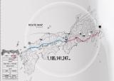 マラソンのコースや経過を伝えるルートマップ