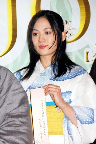 映画『TAJOMARU[タジョウマル]』の完成報告記者会見に出席した、柴本幸(C)ORICON DD inc.