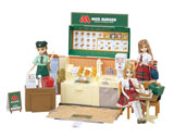 モスバーガー店舗を再現した『リカちゃんモスバーガーショップ』と『モスバーガーショップドレスセット』 (C)MOS FOOD SERVICES,INC. (C)TOMY