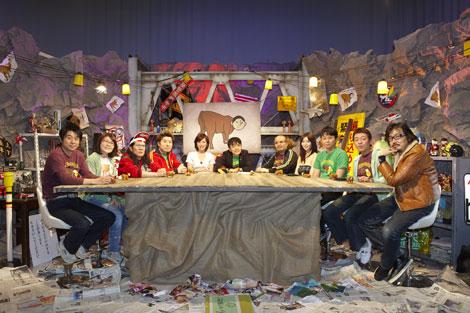 (左から)有野晋哉、光浦靖子、掟ポルシェ、吉田豪、中嶋美和子、水道橋博士、杉作J太郎、森下悠里、有吉弘行、玉袋筋太郎、植地毅