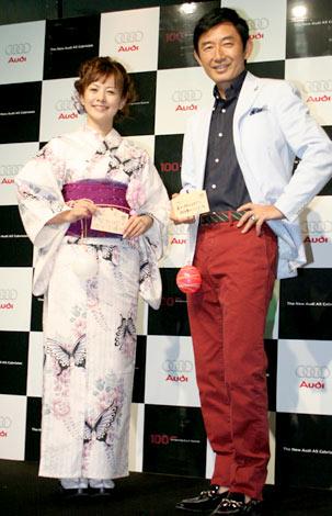 新車「アウディA5カブリオレ」の発表記念パーティーに出席したさとう珠緒と石田純一 (C)ORICON DD inc.