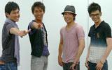 (左から)吉原功兼アナウンサー、堀田篤アナウンサー、川島壮雄アナウンサー、坂元龍斗アナウンサー
