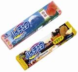 森永製菓より発売される、『ハイチュウ<ドリアン>』と『ハイチュウ<白桃>』