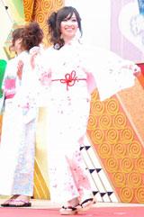 女子大生による浴衣ファッションショーの様子(C)ORICON DD inc.