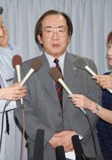 沈痛な表情で語った相澤正久社長(C)ORICON DD inc.