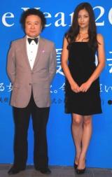 """(左から)篠山紀信と、""""被写体""""となった黒木メイサ (C)ORICON DD inc."""