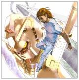 安田朗が書き下ろした『ガンダム・ロック』のアートワーク Illustrated by  akiman (C)創通・サンライズ