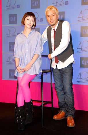 ファッションブランド『GAP』の設立40周年記念イベントにゲストとして出席した木村カエラとRIP SLYMEのILMARI (C)ORICON DD inc.
