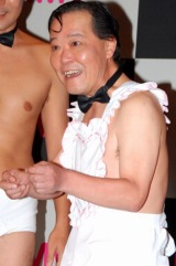 DVD『リアクションの殿堂』発売記念イベントに登場した、ダチョウ倶楽部・上島竜兵 (C)ORICON DD inc.