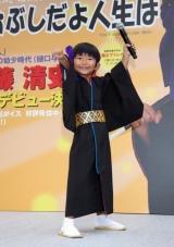 歌手デビューイベントに登場した加藤清史郎