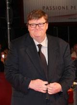 ベネチア国際映画祭のレッドカーペットに立つマイケル・ムーア監督(C)Kazuko Wakayama