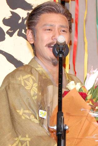 NHK大河ドラマ『天地人』のスタジオ収録がクランクアップを迎え、感慨深げな主演の妻夫木聡 (C)ORICON DD inc.