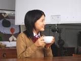 川島海荷が出演している『クノール(R) カップスープ』新CMメイキングカット