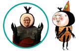 <カブトムシ斎藤>役のカンニング竹山 (C)2009 吉田戦車・小学館/BeeTV