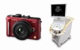 デジタルカメラ『パナソニック LUMIX DMC-GF1SK』(パナソニック)、汎用超音波画像診断装置『デジタル超音波診断装置 HI VISION Preirus』(日立メディコ)