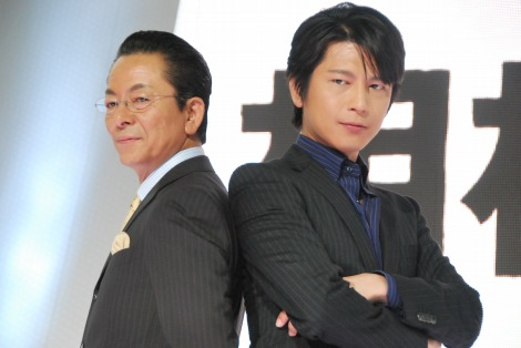 新ドラマ『相棒 season8』の製作発表会見に出席した(左から)水谷豊、及川光博 (C)ORICON DD inc.
