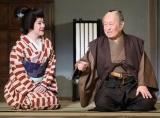 舞台『幸せの行方』夜の部に出演した長門裕之(右) 【代表撮影】