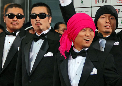 湘南乃風(写真左よりRED RICE、若旦那、HAN-KUN、SHOCK EYE) (C)ORICON DD inc.