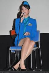 DVD『エアホステス 〜天使のラブウォーズ〜』の発売記念イベント出席したエアホステスを演じたビー・ナムティップ(C)ORICON DD inc.