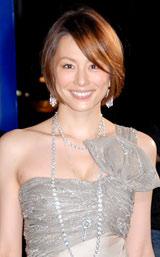 『Artelligent Christmas 2009』のイルミネーション点灯式に出席した米倉涼子