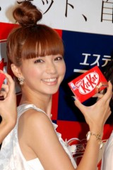 キットカット×TBC『自分一美人プロジェクト』発表会に出席した安田美沙子 (C)ORICON DD inc.
