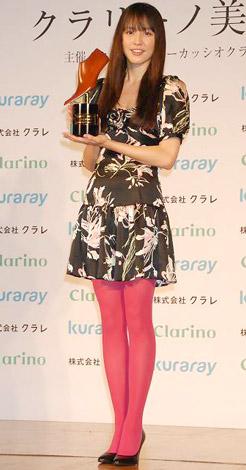 サムネイル 第7回『クラリーノ美脚大賞』20代部門を受賞した長澤まさみ (C)ORICON DD inc.