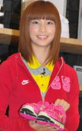 『NIKE フラッグシップストア原宿』プレビューイベントに参加した安田美沙子 (C)ORICON DD inc.