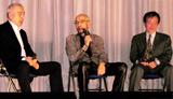 日本映画プロフェッショナル大賞に登壇した(左から)大高宏雄氏、荒戸源次郎氏、奥山和由氏