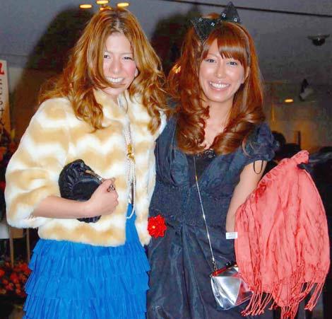 庄司智春と藤本美貴の結婚披露宴に出席した(左から)スザンヌ、里田まい (C)ORICON DD inc.