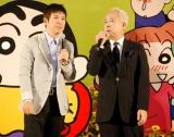 臼井儀人さんの『思い出を語る会』に出席した、(左から)関根勤と小堺一機 (C)ORICON DD inc.