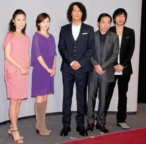 2010年NHK大河ドラマ『龍馬伝』の第1話試写会に出席した、(左から)寺島しのぶ、広末涼子、福山雅治、香川照之、大森南朋 (C)ORICON DD inc.
