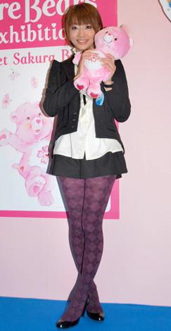 日本をテーマにしたケアベアの新デザイン『Sweet Sakura Bear』公開記念イベントに参加した眞鍋かをり (C)ORICON DD inc.