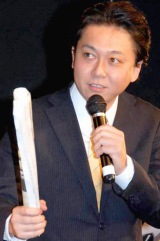 映画『アフロサムライ:レザレクション』特別試写会にゲスト出演した鳩山来留夫 (C)ORICON DD inc.
