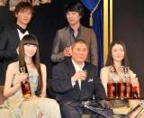 (上段左から)成宮寛貴、山崎まさよし (下段左から)栗山千明、北野武、小雪 (C)ORICON DD inc.