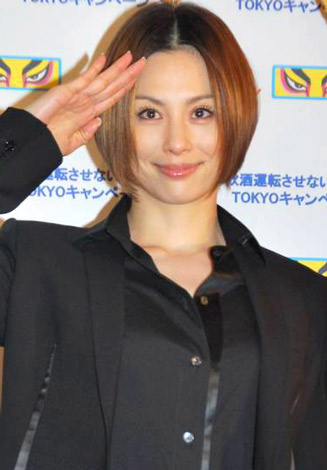 『飲酒運転させないTOKYOキャンペーン』のオープニングイベントに出席した米倉涼子 (C)ORICON DD inc.