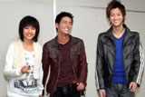 映画『リアル鬼ごっこ2』の撮影中に取材に応じた(左から)吉永淳、石田卓也、三浦翔平