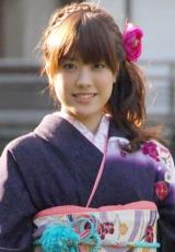 毎年恒例のオスカープロモーション『晴れ着撮影会』に参加した福田沙紀 (C)ORICON DD inc.
