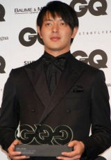 『GQ Men of the Year 2009』を受賞した岩隈久志投手 (C)ORICON DD inc.